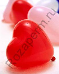 Воздушные сердца (латекс) с гелием
