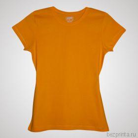 Женская желтая футболка без рисунка MODERN