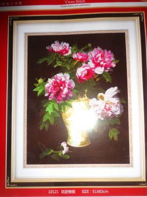 """Купить набор для вышивания крестом """"Пионы в вазе"""" 6D"""