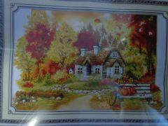 """Купить набор для вышивания крестом """"Осень в деревне"""""""