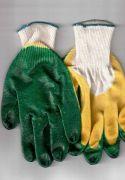 перчатки рабочие хб 13 класс с двойным латексным покрытием супер люкс