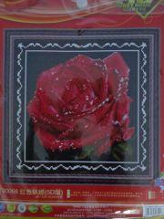 """Купить набор для вышивания крестом """"Красная роза"""" 5D"""