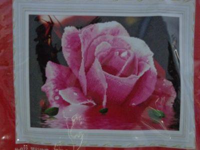 """Купить набор для вышивания крестом """"Роза с капелькой росы"""" 5D"""