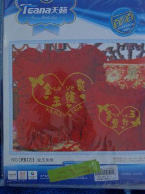 """Купить набор для вышивания крестом: наволочка """"Красная подушка с розами"""""""