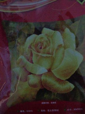 """Купить набор для вышивания крестом: наволочка """"Роза"""" 5D"""