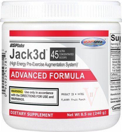 Предтренировочный комплекс JACK3D Adv 230г 45п