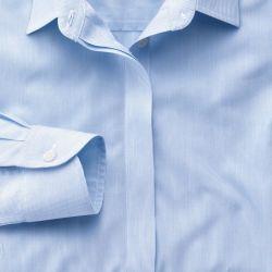 Женская рубашка синяя в мелкую полоску Charles Tyrwhitt приталенная Fitted (WR058SKY)