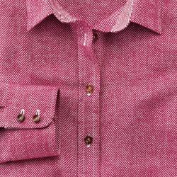 Женская рубашка бордовая Charles Tyrwhitt приталенная Fitted (WP060RED)