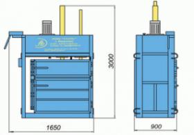 Пресс гидравлический пакетировочный ПГП-15С (распашной)
