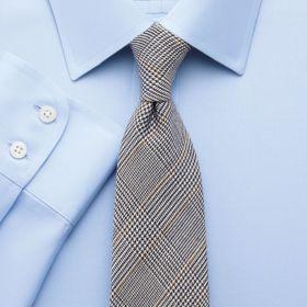 Мужская рубашка синяя Charles Tyrwhitt не мнущаяся Non-Iron приталенная Slim Fit (FN041SKY)