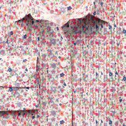 Женская рубашка с цветным узором Charles Tyrwhitt приталенная Fitted (WA067MLT)