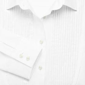Женская рубашка белая Charles Tyrwhitt приталенная Fitted (WQ047WHT)