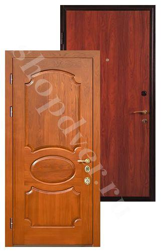 Металлические двери с отделкой панелями ПВХ