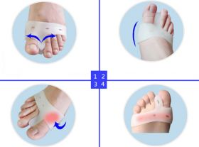 Силиконовый выпрямитель-фиксатор пальцев стопы