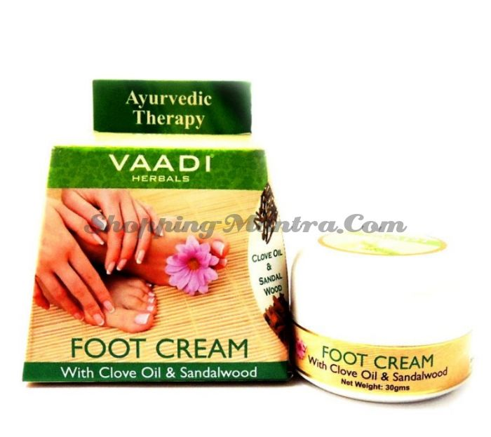 Крем для ног с маслом сандала и гвоздики Ваади | Vaadi Foot Cream Clove&Sandal Oil