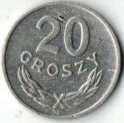 20 грошей. 1965 год.  Польша.
