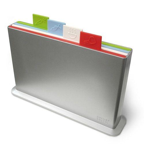 Набор разделочных досок Index Chopping Board из 4х шт в подставке серебро