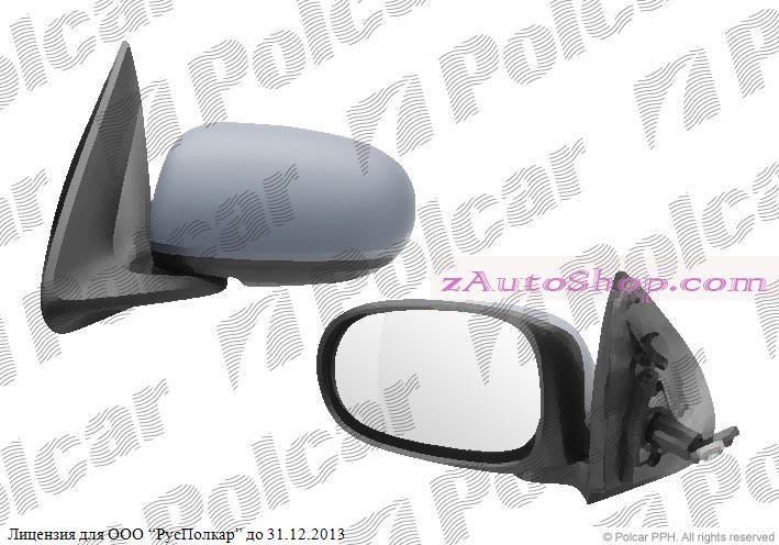 NISSAN ALMERA (N16) 03.00 - 12.02 :Зеркало внешнее левое (эл.,под покраску,стекло асферическое)