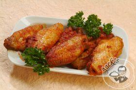 Крылышки куриные с сырным соусом