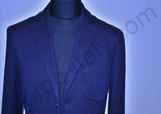 (арт.1310) Пиджак синий трикотажный х/ш Yoon ( последний размер 54 )