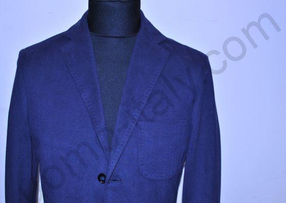 (арт.1312) Пиджак синий трикотажный 100% хлопок Yoon.(последний размер 52)