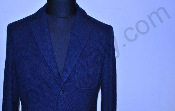 (арт.1338) Пиджак синий  100% шерсть Yoon.(последний размер 52)