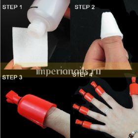 Колпачки для снятия гель лака 5 шт