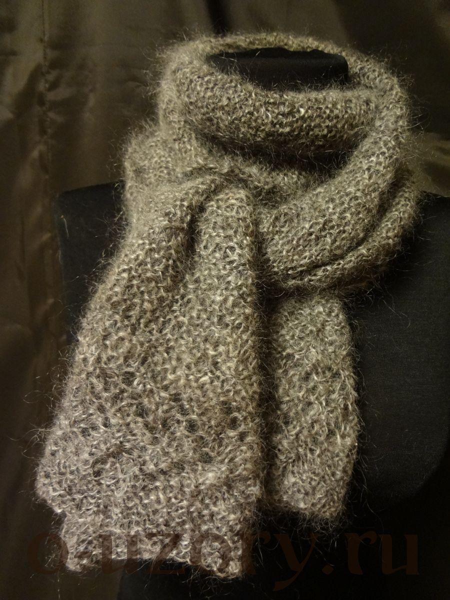 Пуховый шарф