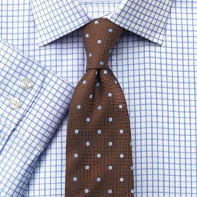 Мужская рубашка белая в синюю клетку Charles Tyrwhitt приталенная Slim Fit (FC287SKY)