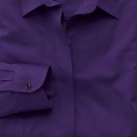 Женская рубашка сиреневая Charles Tyrwhitt приталенная Fitted (WS236PUR)