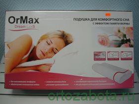 """Подушка под голову  """"OrMax Dream Lux"""" Ormax 103М для комфортного сна"""