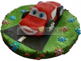 """Бисквитный торт """"Тачки"""" Сладкие подарки детям"""