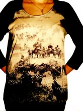 TOM TAILOR.блуза шёлк+трикотаж.разм.46,48,50,52