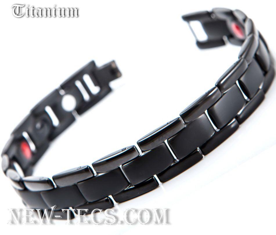 Титановый магнитный браслет TY-004NT-Mj-titanium