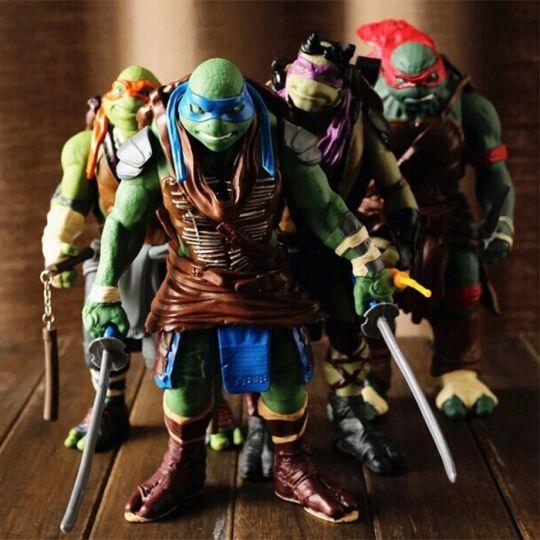 Комплект фигурок черепашки - ниндзя (Teenage Mutant Ninja Turtles) 4 персонажа по 26 см