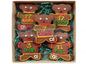 Детские подарки сладкие  Наборы пряников «Мишки футболисты»