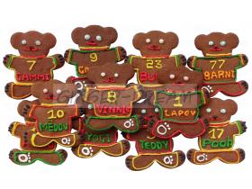 Сладкие подарки детям | Пряники имбирные «Медвежья лига»