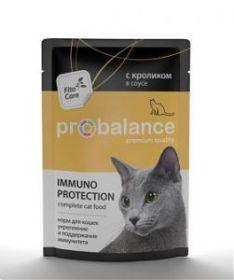 ProBalance Immuno Protection д/кошек с кроликом в соусе. Защита и поддержание иммунитета. 85г