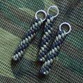 """Брелок плетение """"Винт"""" черный + олива"""