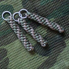 """Брелок плетение """"Винт"""" олива + хаки"""