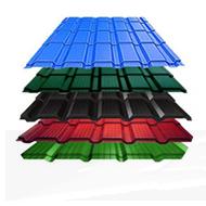Профнастил красный, зеленый, коричневый полимер