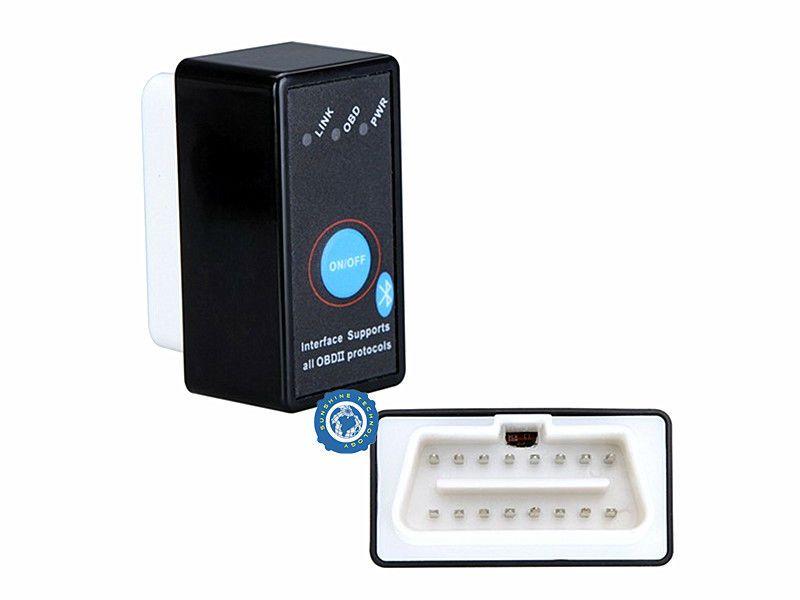 Диагностический адаптер ELM327 Bluetooth v1.5 c кнопкой питания