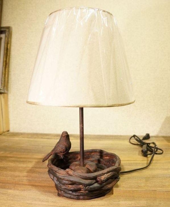 Настольный светильник Птичка в гнезде DE7676