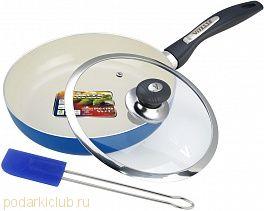 Сковорода с керамическим покрытием (24 см) ViTESSE  VS-2201 и силиконовая лопаточка (код 115)