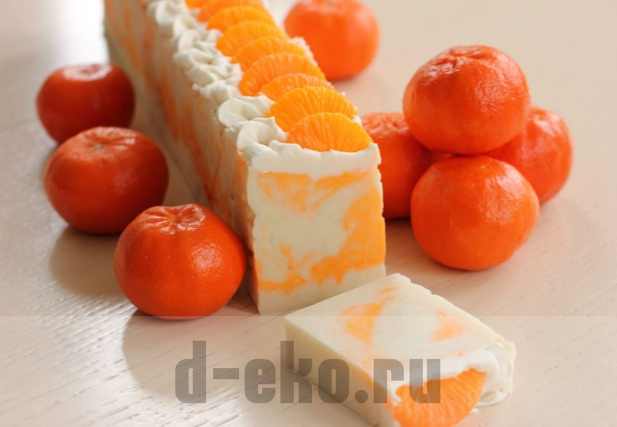 """Натуральное мыло серии Деликатес """"Апельсин"""""""