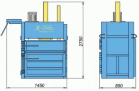 Пресс гидравлический пакетировочный ПГП-15МУС