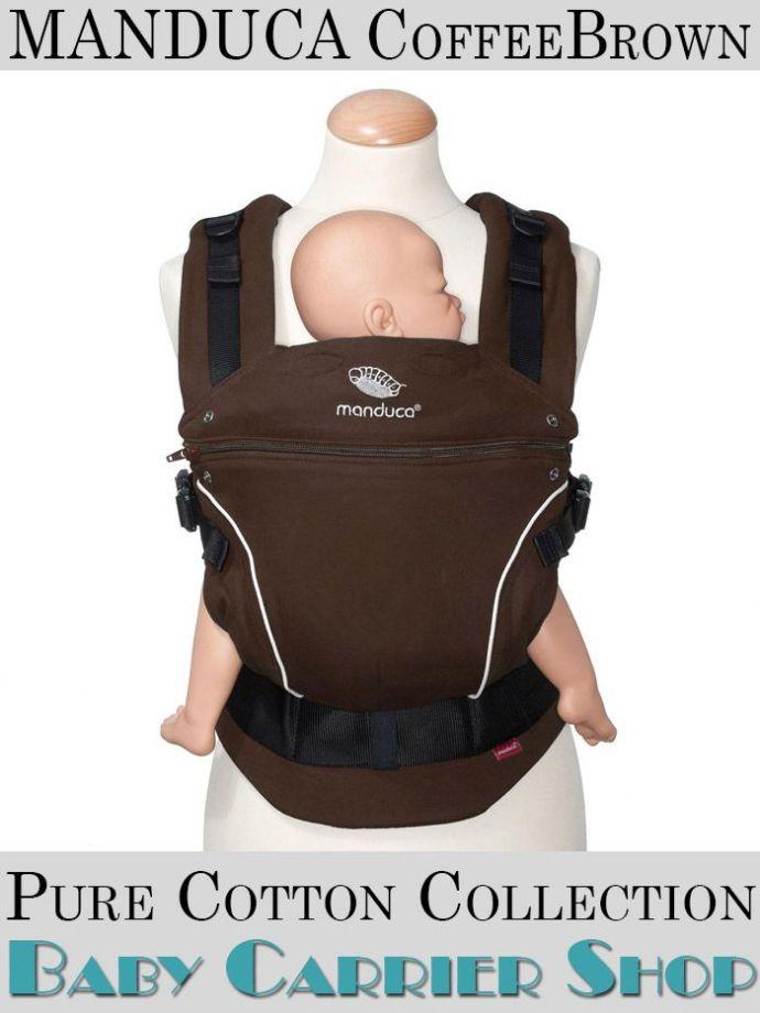 Слинг-рюкзак MANDUCA Baby And Child Carrier Эргорюкзак для переноски малышей «CoffeeBrown PureCotton» [Мандука слингорюкзак Коричневый]