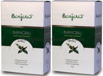 Порошок Бринградж натуральный кондиционер и маска для волос Банджарас /Banjara's Bhringraj Powder