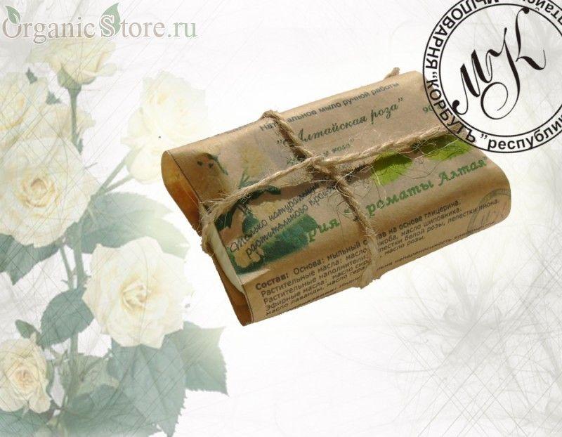 """Натуральное мыло """"Алтайская роза"""""""