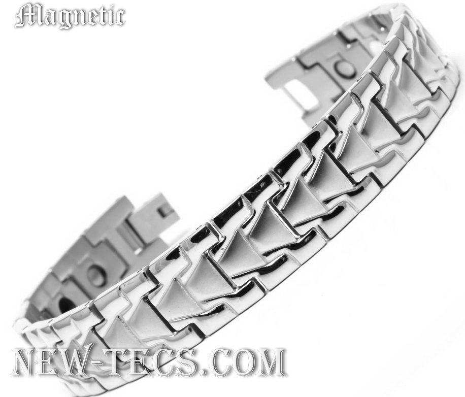 Белый магнитный браслет